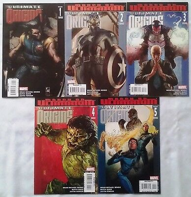 Marvel ULTIMATE ORIGINS VARIANT COVERS Complete Set #1,2,3,4,5 NM Unread Bendis