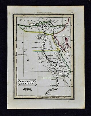 1832 Murphy Map - Ancient Egypt - Africa Memphis Pyramids Alexandria Thebes Nile