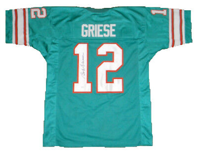 BOB GRIESE SIGNED Auto Miami Dolphins Green Teal Jersey Jsa  for sale