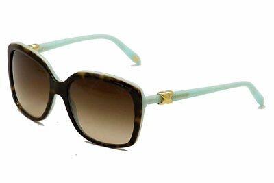 7ca2082c3c8f Tiffany   Co Women s TF4076 4076 8134 3B Tortoise Blue Signature Sunglasses  58mm
