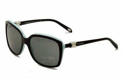 27078b75c829 Tiffany   Co Women s TF4076 4076 8055 3F Black Blue Signature Sunglasses  58mm