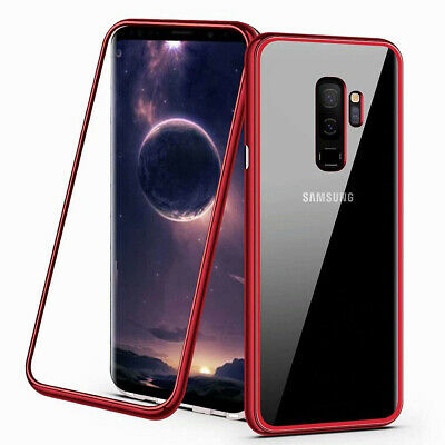 Magnetic Adsorption Glass Back Phone Case Cover For For Samsung S8 S9 Note 9 8