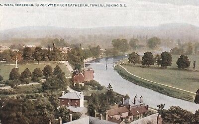 c england Herefordshire early old antique  postcard united kingdom hereford
