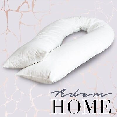 Adam Home Extra Fill 9ft & 12ft U Shaped Duck Feather And Down Body Pillow Only