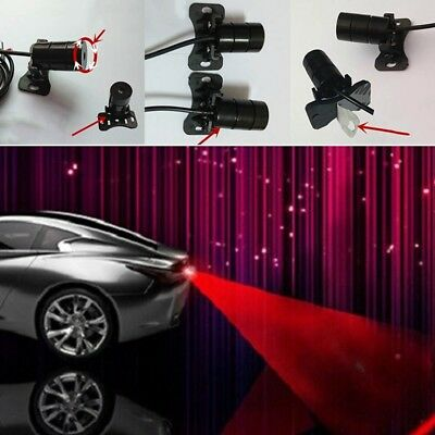 Car Vehicle LED Laser Fog Light Anti-Collision Taillight Brake Warning Lamp Red