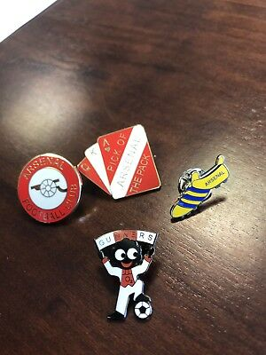 4 Arsenal FC enamel pin badges-Great condition.