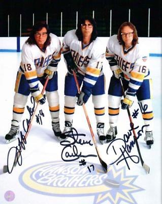 REPRINT -  HANSON BROTHERS Charlestown Chiefs  8 x 10 Photo Poster RP