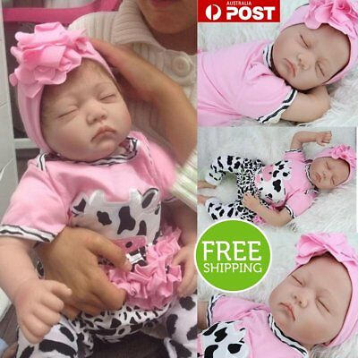 "22"" Touch Doll Silicone Vinyl Newborn Doll 22"" Lifelike Reborn Baby Girl Real WA"