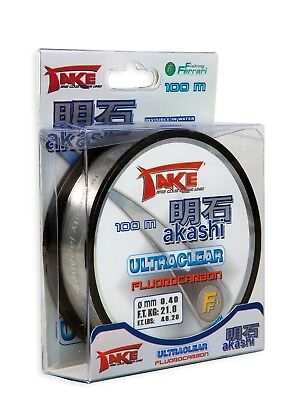 Take Akashi Fluorocarbon Ultra Clear Line - 100m Spool - All Breaking Strains