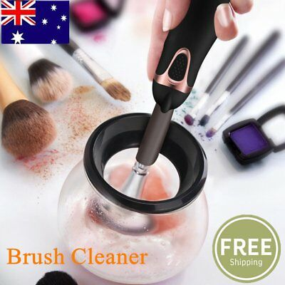 Cleaner Set Makeup Brush Wash Dryer Electric Brush Cleaning Cosmetic Tool Kit AU