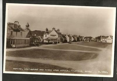 NEJ 1955 Postcard Marine, Heathmount & Kings Arms Hotels, Kyleakin, Isle of Skye