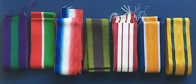 "Full Size British Military Medal Ribbons Various Campaigns 6"" lengths  *[MEDRIB]"