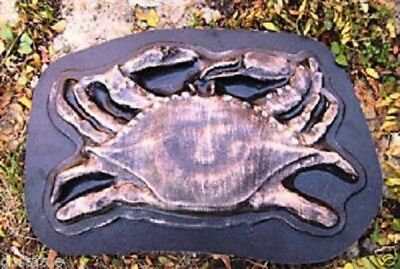 Crab stepping stone plaster concrete abs plastic mold