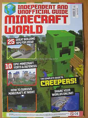 Minecraft World magazine issue 10 Creepers Forts & Defences Minecraft at Night