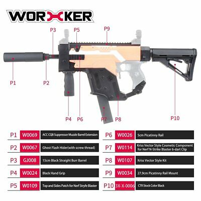 WORKER Kriss Vector Imitation Modified Kit Special for Nerf Stryfe Modify Toy GT