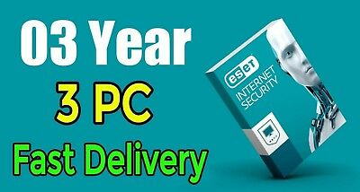 Eset Internet Security version-11 3 Year 3 PC Original Product key Just Delivery