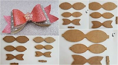 Hair or gift wrap bow templates 5 sizes you choose wooden stencils to make bows