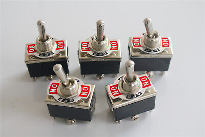 5Pcs Heavy Duty 15A 250V AC DPDT 6 Screw Terminal ON/OFF/ON Toggle Switch KN3