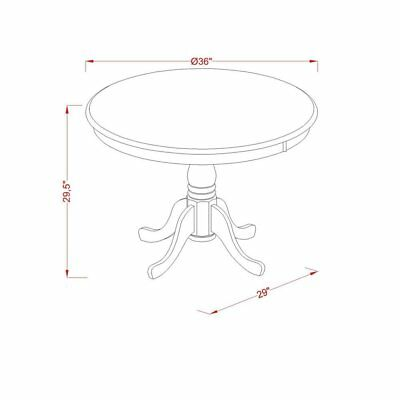 5-piece Small Kitchen Table and 4 Dining Chairs
