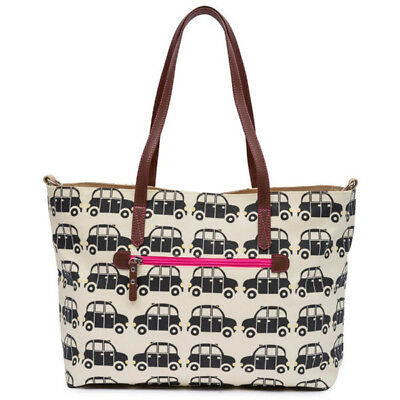 Pink Lining Black Cabs Tote Maternity Holdall Changing Bag Baby Nappy Change Mat