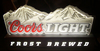 COORS LIGHT Fluorescent 3D Bar Man Cave Beer Advertising Brewery Beer Sign