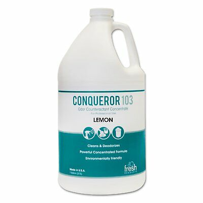 Fresh Products Conqueror 103 Odor Counteractant Concentrate Lemon 1 gal Bottle