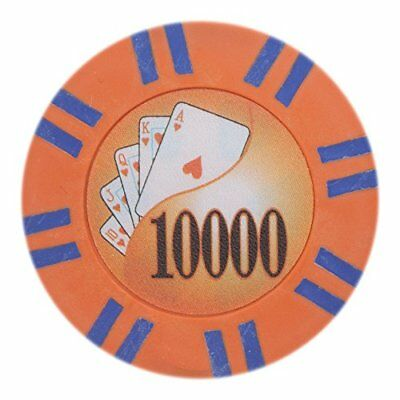 2 Stripe Twist 8g Poker Chips, $10,000 Clay Composite, 50-pack