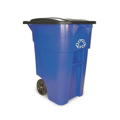 Rubbermaid FG9W2773 BRUTE 50 Gallon Rollout Recycle Container