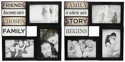 Wall Hanging Black Plastic Multi Collage Quote Picture Photo Frame