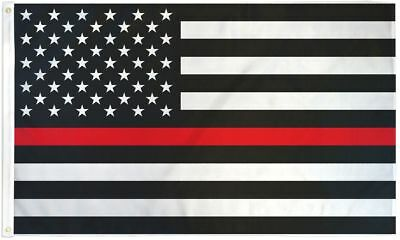 Thin Red Line Flag 3x5ft - Support Firefighters - Thin Line - Fire Department