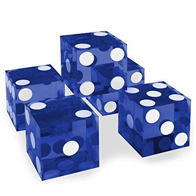 19mm Casino Dice with Razor Edges, Grade AAA, Matching Serial Numbers, Blue
