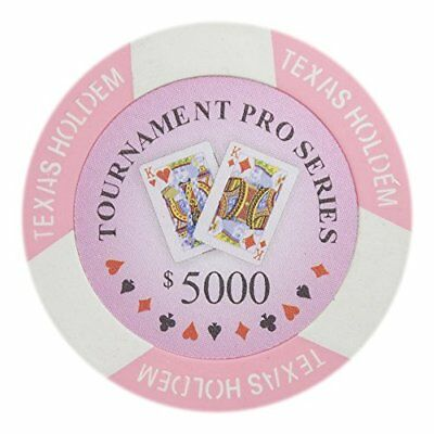 Tournament Pro Series 11.5g Poker Chips, $5,000 Clay Composite, 50-pack