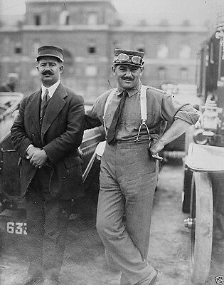 Race car driver Georges Boillot and Georges Rigal 1914 World War I 8x10 Photo
