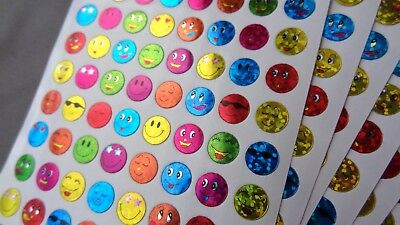 960 Reward Stickers Smiling Faces School Children Teacher Aid Potty training