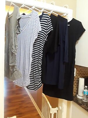 Lot Of Size Large Maternity Clothes 5 Tops & 1 Dress