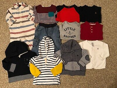 Baby Gap Boy Lot of Bodysuits Jeans Sweatshirts Clothes Size 6-12 Months 11 Pc