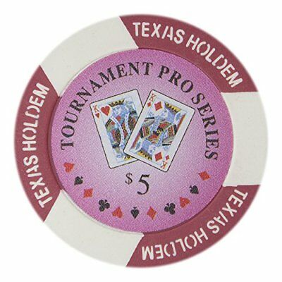 Tournament Pro Series 11.5g Poker Chips, $5 Clay Composite, 50-pack