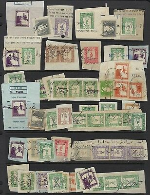 PALESTINE 1930s COLLECTION OF 55 POSTAGE & REVENUES ALL USED FOR REVENUES