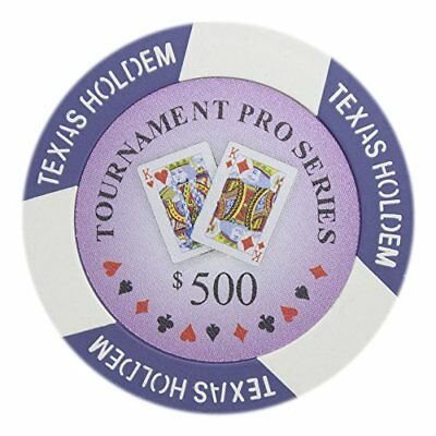 Tournament Pro Series 11.5g Poker Chips, $500 Clay Composite, 50-pack
