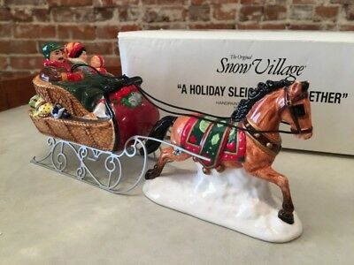 Dept 56 Holiday Sleigh Ride Together 1996 Christmas Snow Village 54921 Mint