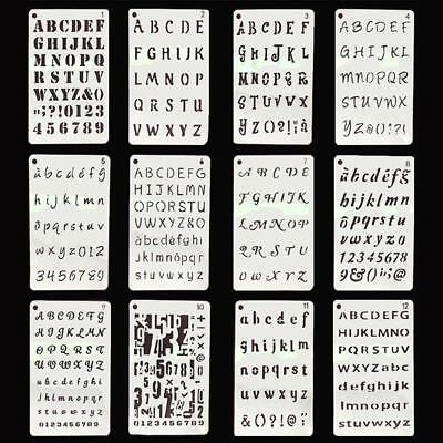 DIY Letter Alphabet Number Layering Stencil Scrapbooking Embossing Paper Cards J