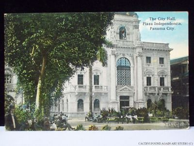 Plaza Independencia Old Panama View Postcard City Hall Completed 1910