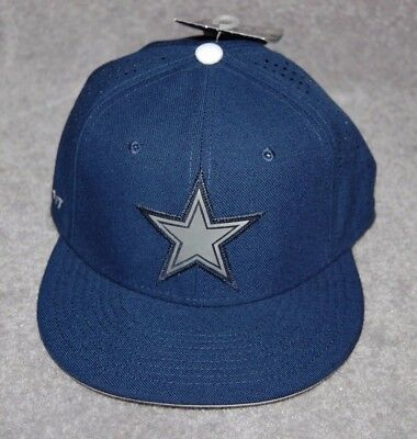 fb0a32522 Dallas Cowboys Adults Nfl Football Flat Bill Caps Hat Fitted Size 7
