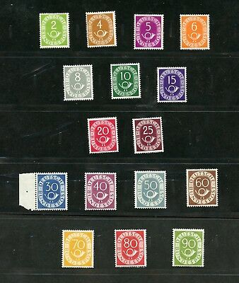 Germany 1951  Year Collection Mint Nh As Shown On Safe Hingeless Album Pages