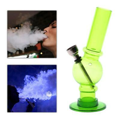 Portable Hookah Water Bong Herb Acrylic Smoking Pipe Kits Shisha Tobacco GREEN