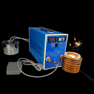 ZVS Induction Heating High-frequency Quenching Machine Digital Display +Crucible