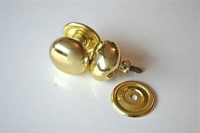 "Pair Quality English Made 1 1/2"" Brass Screw In Door Knob Drawer Pull Knob Cb14"