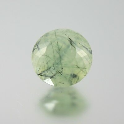faceted prehnite RARE locale Poland 6.11ct large 11.5mm round