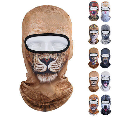 3D Animal Cat Dog Outdoor Bicycle Cycling Sport Ski Balaclava Full Face Mask Hat