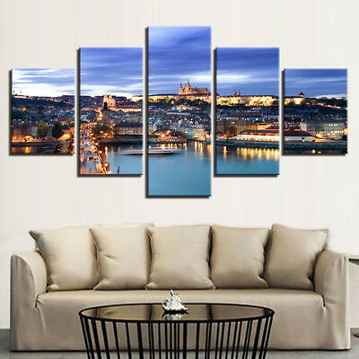 5Pcs Modern Art Oil Landscape Painting Canvas Print Wall Picture Decor No Frame